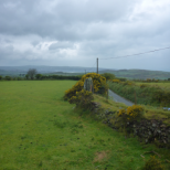 Two stones are used as gateposts – the one at the fore and the other hidden in the gorse beside it.